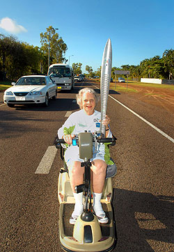 Palmerston welcomes the Baton with Beryl